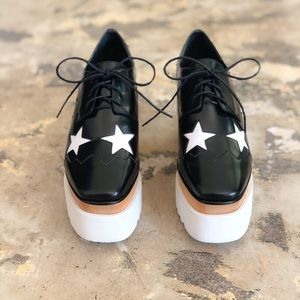 Stella McCartney Black Elyse Star Platforms